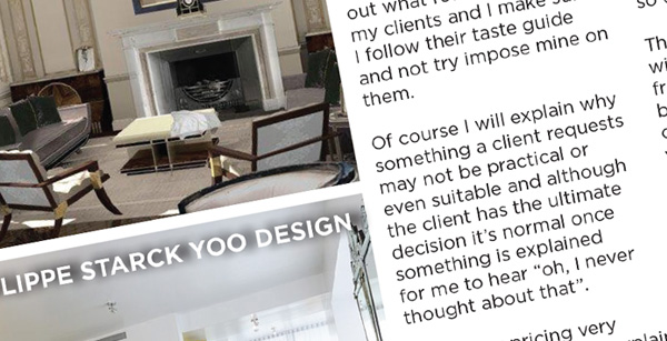 Interior designer article